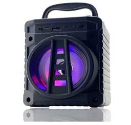 Caixinha de som Bluetooth completa com rádio grande promoção