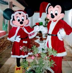 Roupa Natalina Para Personagens Mickey e Minnie