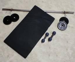 Conjunto para musculação