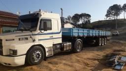 Scania 113 95 Carreta aberta grade baixa Guerra