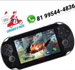 Vídeo Game Portátil 4.000 Jogos Arcade Roda Jogos Nes Nintendo Sega Gba Preto só zap