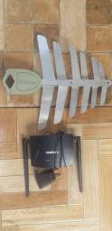 Antena digital e roteador.