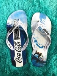Sandálias masculinas (cola-cola)
