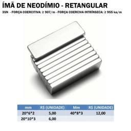 Ímã de Neodímio Retangular