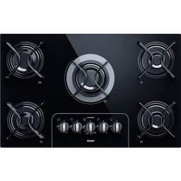 cooktop à gás consul 5 bocas cd075 acendimento inteligente preto