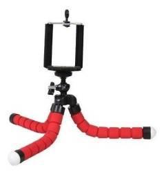 Tripé Para Celular Flexivel E Camera Vermelho