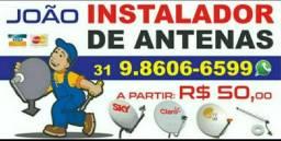 João Instalador de Antenas BH e Região