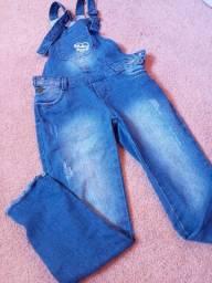 Macacão jeans ótimo estado