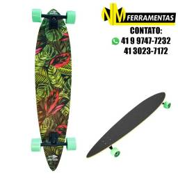 Skate Longboard Breeze Abec-7 Folhas Verde Mormaii