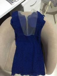 Vestido azul veste P e M