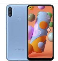Samsung A11 novo na caixa.