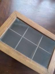 Cx madeira cm tampa cm vidro