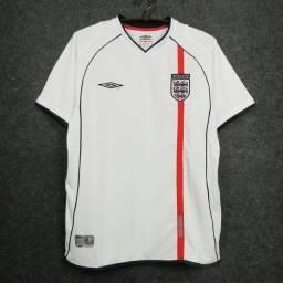 Camisa Umbro Inglaterra 2002 retrô