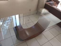 Vendo Mesa com tampo de vidro 5mm temperado
