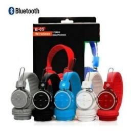 Fone de ouvido sem fio via bluetooth completo grande promoção