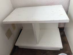 Título do anúncio: Rack branco mesa de apoio