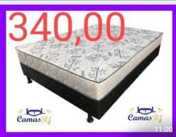 CAMA BOX CASAL E SOLTEIRO BICAMA