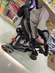 Carrinho Kiddo compass III e bebê conforto.