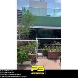 Título do anúncio: Cobertura com 3 dormitórios para alugar, 230 m² por R$ 10.000,00/mês - Manaíra - João Pess