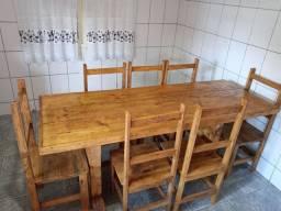 Título do anúncio: Mesa com 6 cadeiras rustica