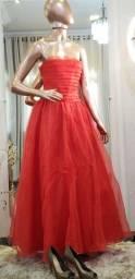 Vestido debutante vermelho
