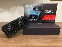 Placa de vídeo Asus AMD Radeon RX 5500 XT de 8gb - praticamente nova com garantia