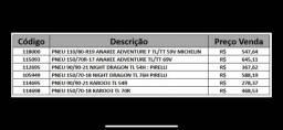 vendo pneus. tel (31) 2115-2707