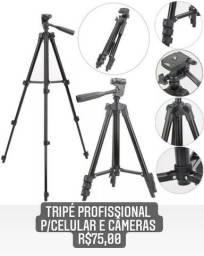 Tripé profissional para celular e câmeras