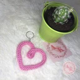 Chaveiro coração tricotin