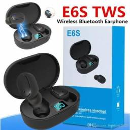 Fone Bluetooth TWS e6s, NOVO