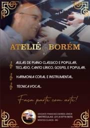 Aulas de Piano,teclado e canto