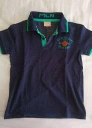 Camiseta polo, marca Milon, tamanho 4 anos