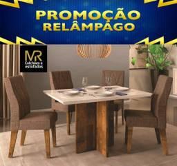 Título do anúncio: Mesa de Jantar Italia Terrara Off Whaite 120X90  4 Cadeiras Áurea