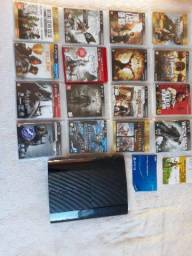 Playstation 3 Console Ultra Slim 500gb Complete Edition + Controle Dual Shock 3 Preto Sem