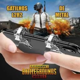 Gatilhos de Metal L2 R2 para jogos mobile: Pubg, Free Fire, Rules of Survival, Fortnite