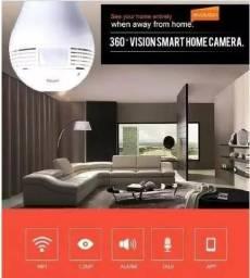 Câmera Lâmpada Wi-Fi Visão 360 Graus Fantástica