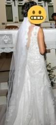 Vestido longo de noiva
