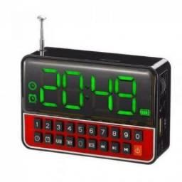 Radio Relogio Digital com Despertador Ws 1513 Usb Sd Fm Mp3