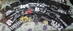 Camisetas de rock unissex