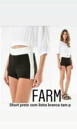 1 Short marca Farm tam P novo original