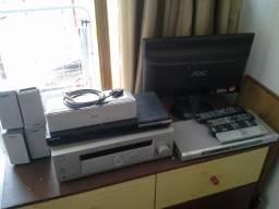 Receiver com Blu-ray Player e Monitor 20''