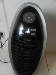 Climatizador preto e cinza