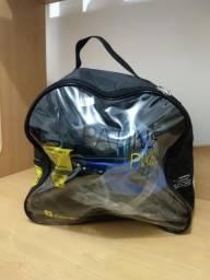Patins Roller + kit segurança
