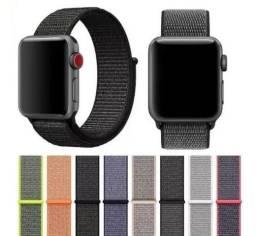 Pulseira de nylon com fechamento de velcro Apple Watch