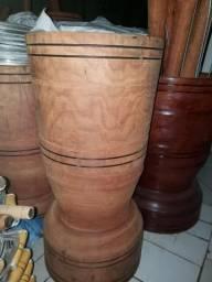 Pilão madeira bruta