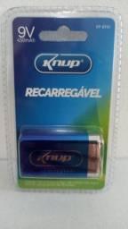Bateria 9V recarregavel Knup KP-BT9V