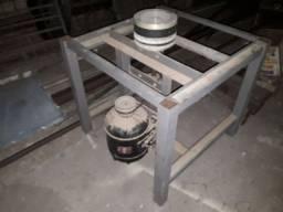 Lixadeira de mesa com rolo em alumínio