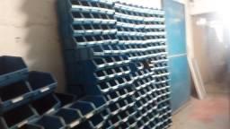Gaveteiro com travas/ encaixes, caixa bin organizadora