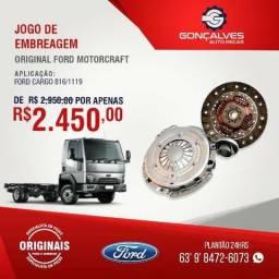JOGO DE EMBREAGEM ORIGINAL FORD MOTORCRAFT FORD CARGO 816