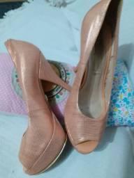 Sapato social cor salmão semi-novo1a